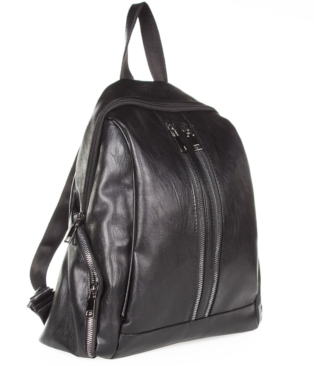 BLACK LEATHER BACKPACK 0