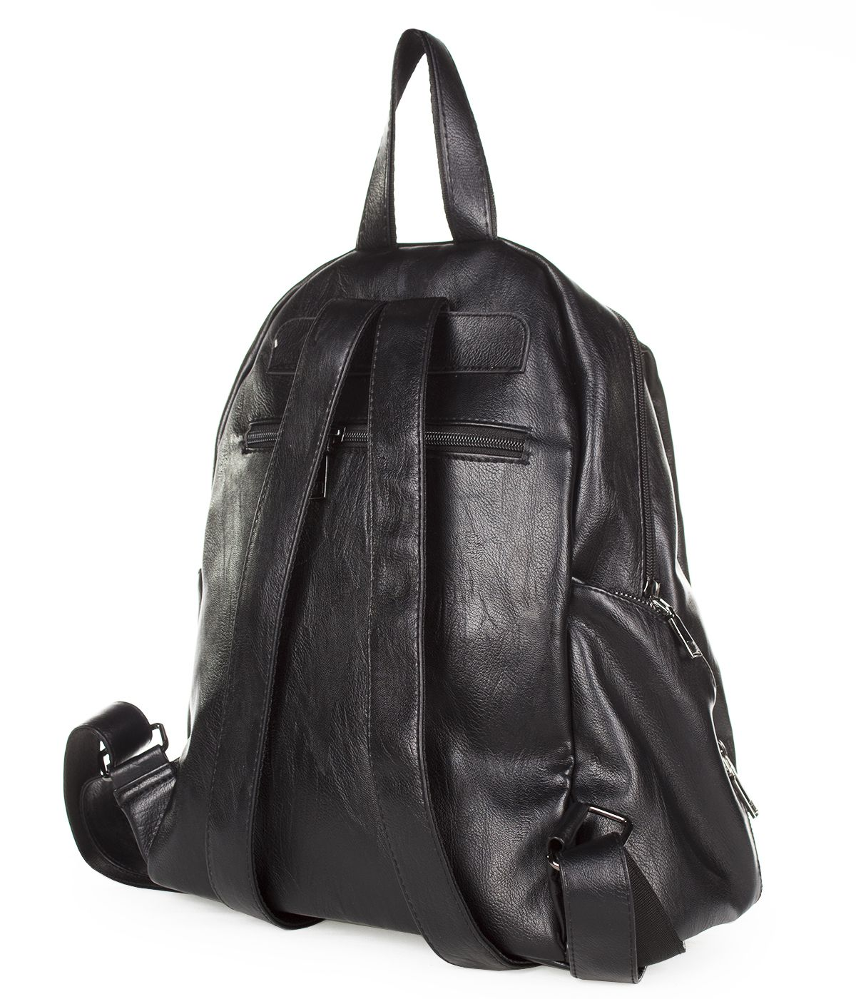 BLACK LEATHER BACKPACK 1