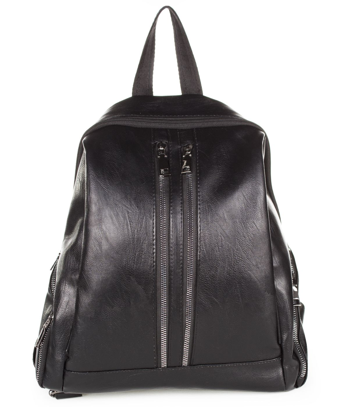 BLACK LEATHER BACKPACK 2