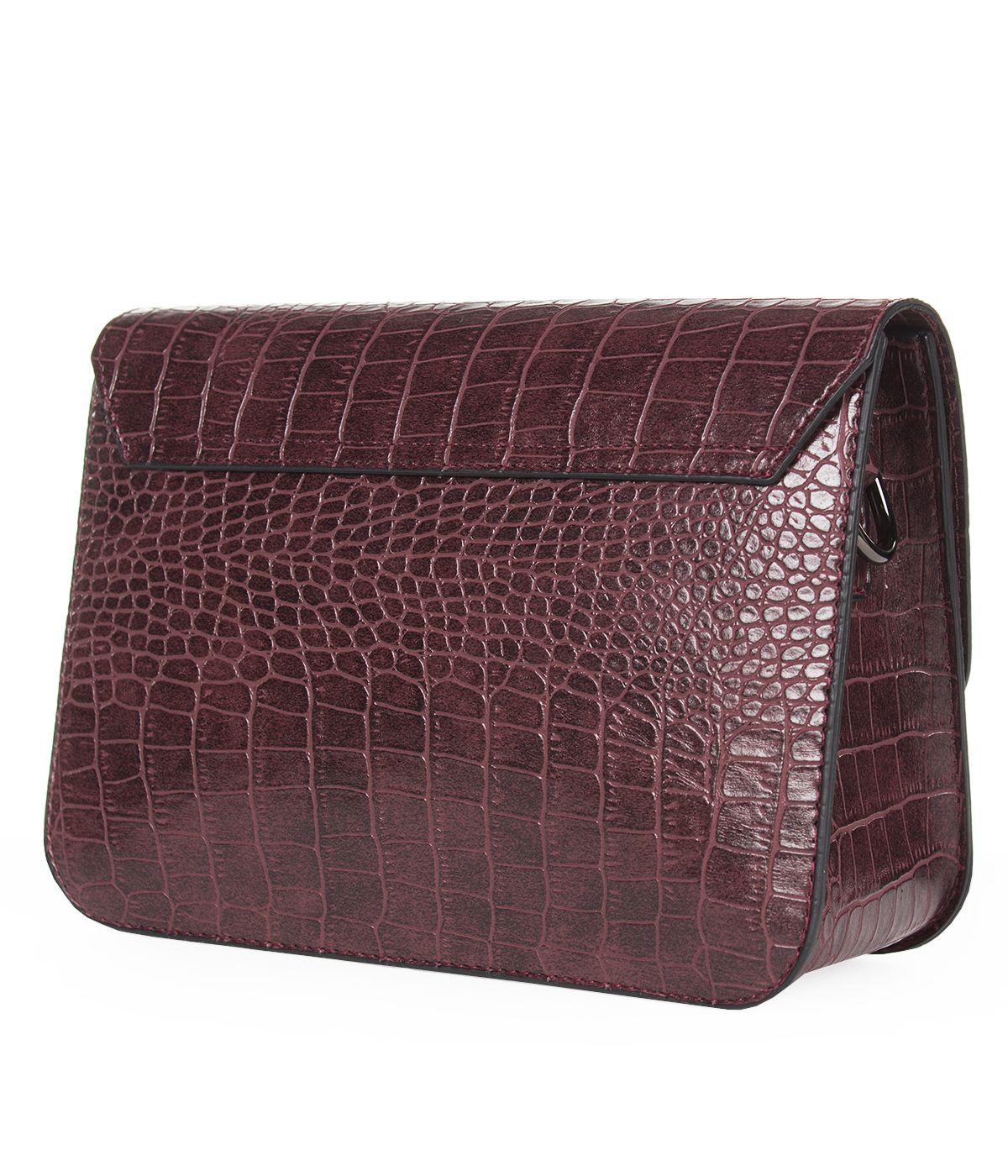 LEATHER BORDO  BAG WITH SNAKE SKIN IMITATION  1