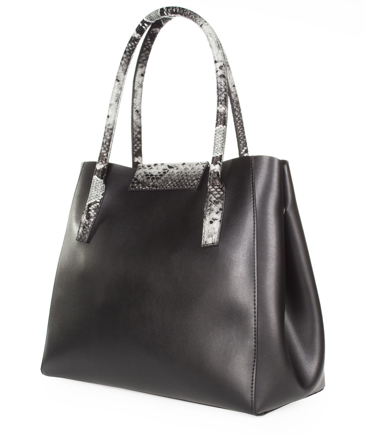 LEATHER BAG WITH SNAKE SKIN IMITATION  1