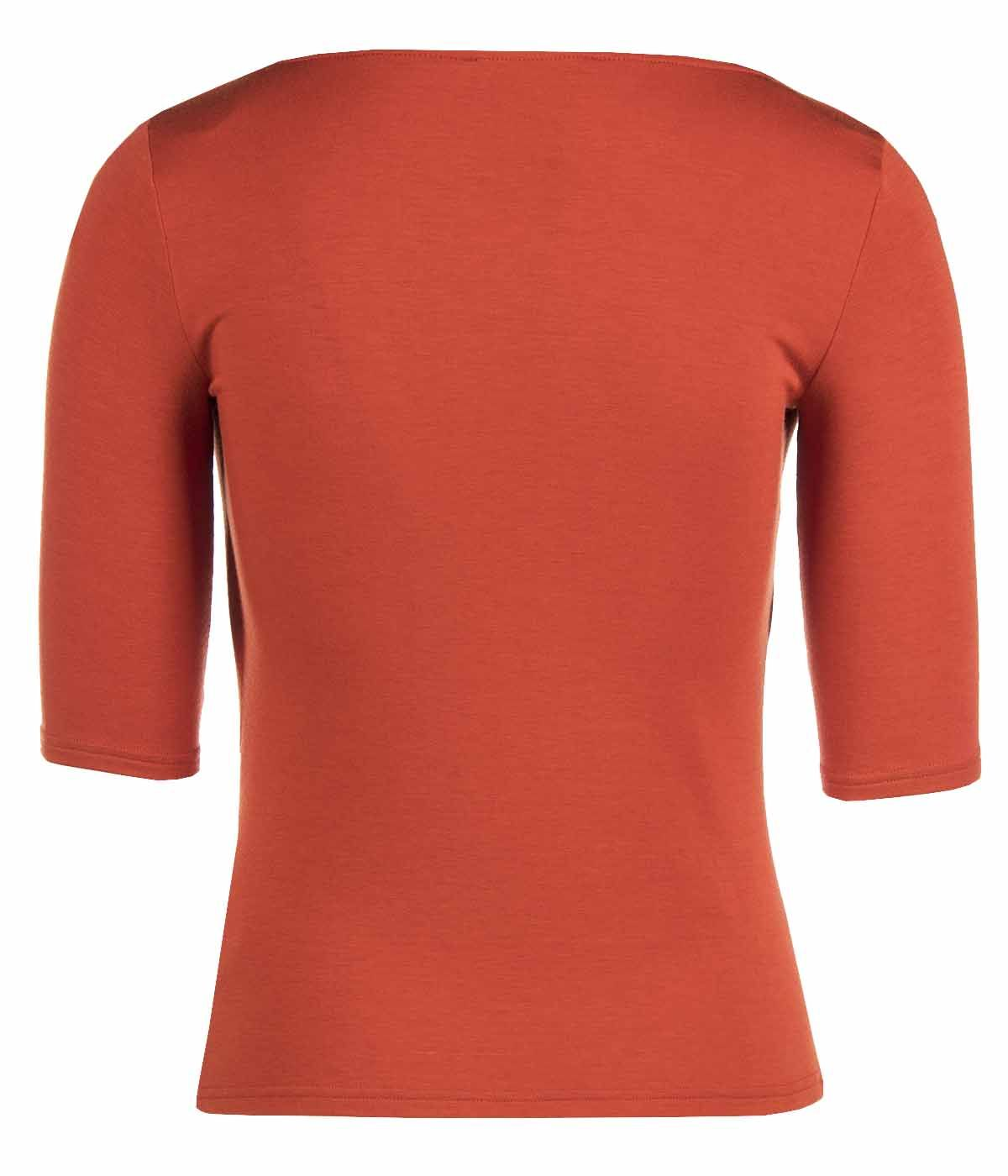 JERSEY  BLOUSE WITH ¾ SLEEVES AND FRONT TIED DETAIL 1