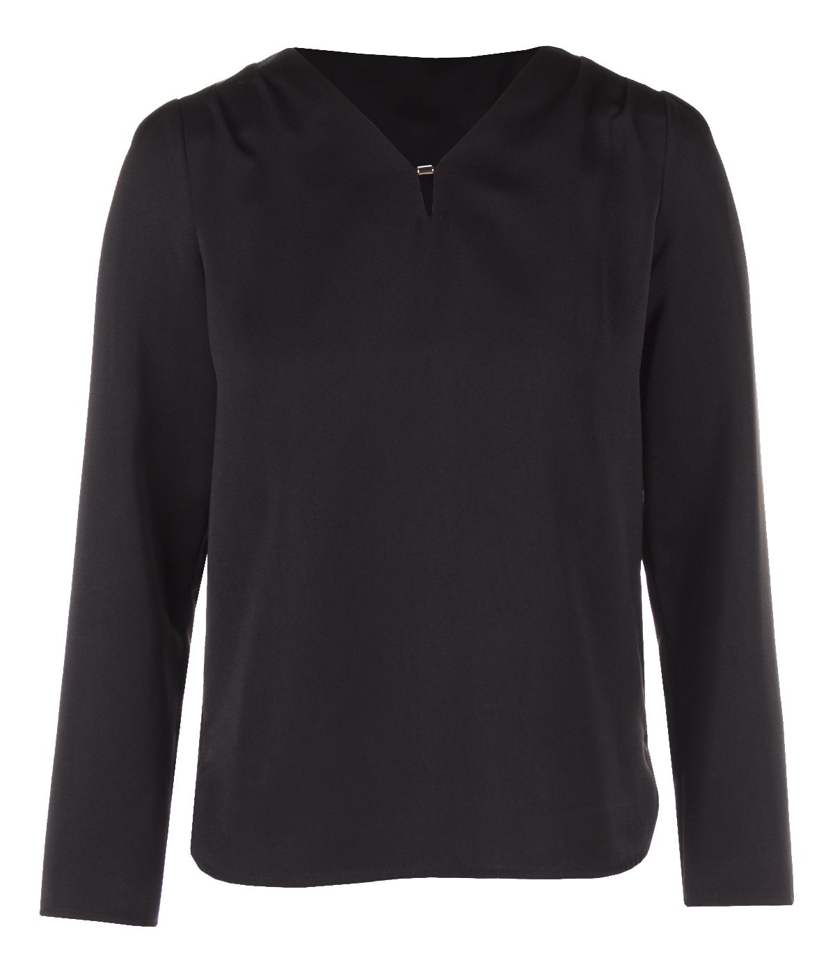 BLACK BLOUSE WITH LONG SLEEVES 0
