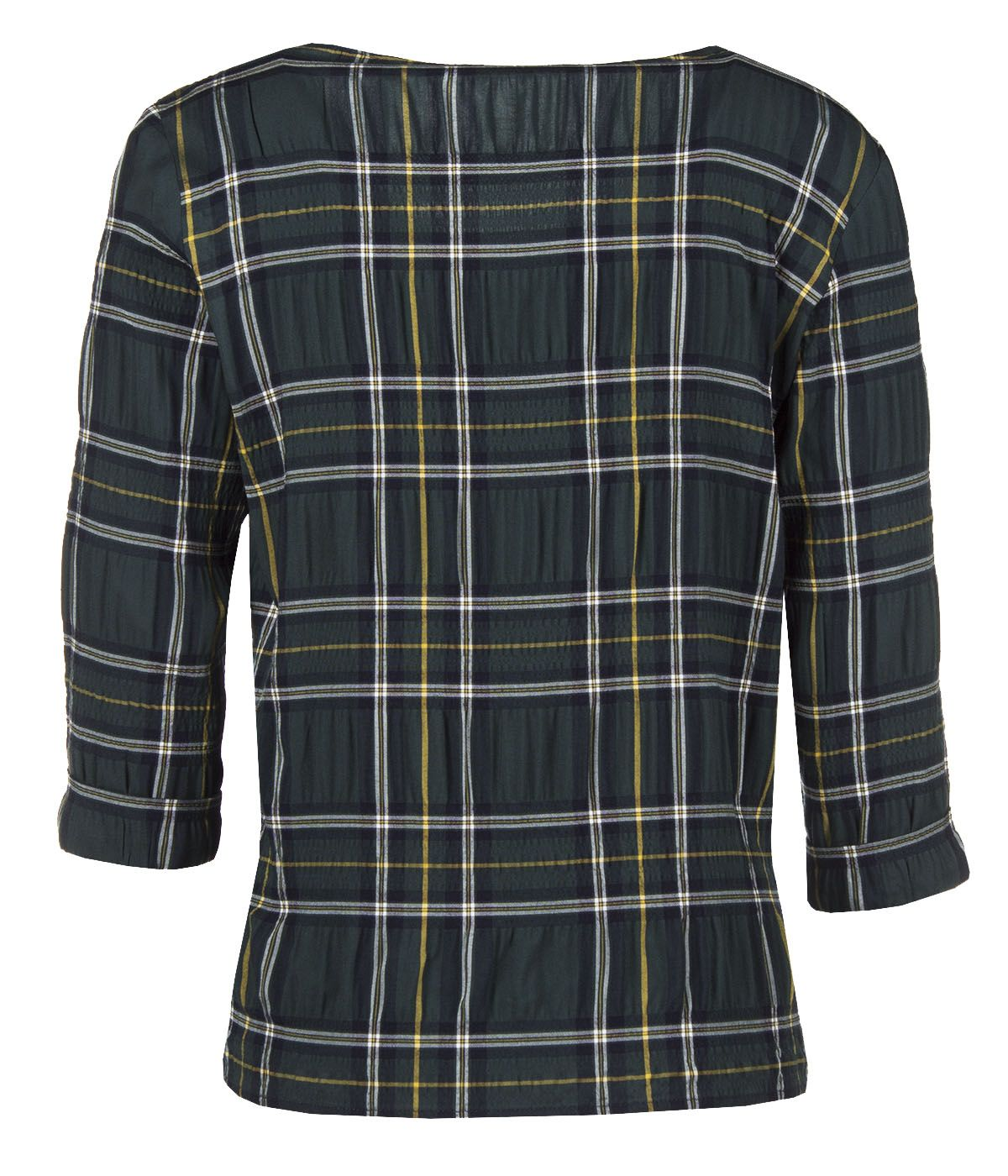 CHECKED BLOUSE FROM VISCOSE WITH ¾ SLEEVES AND TIED DETAIL 1