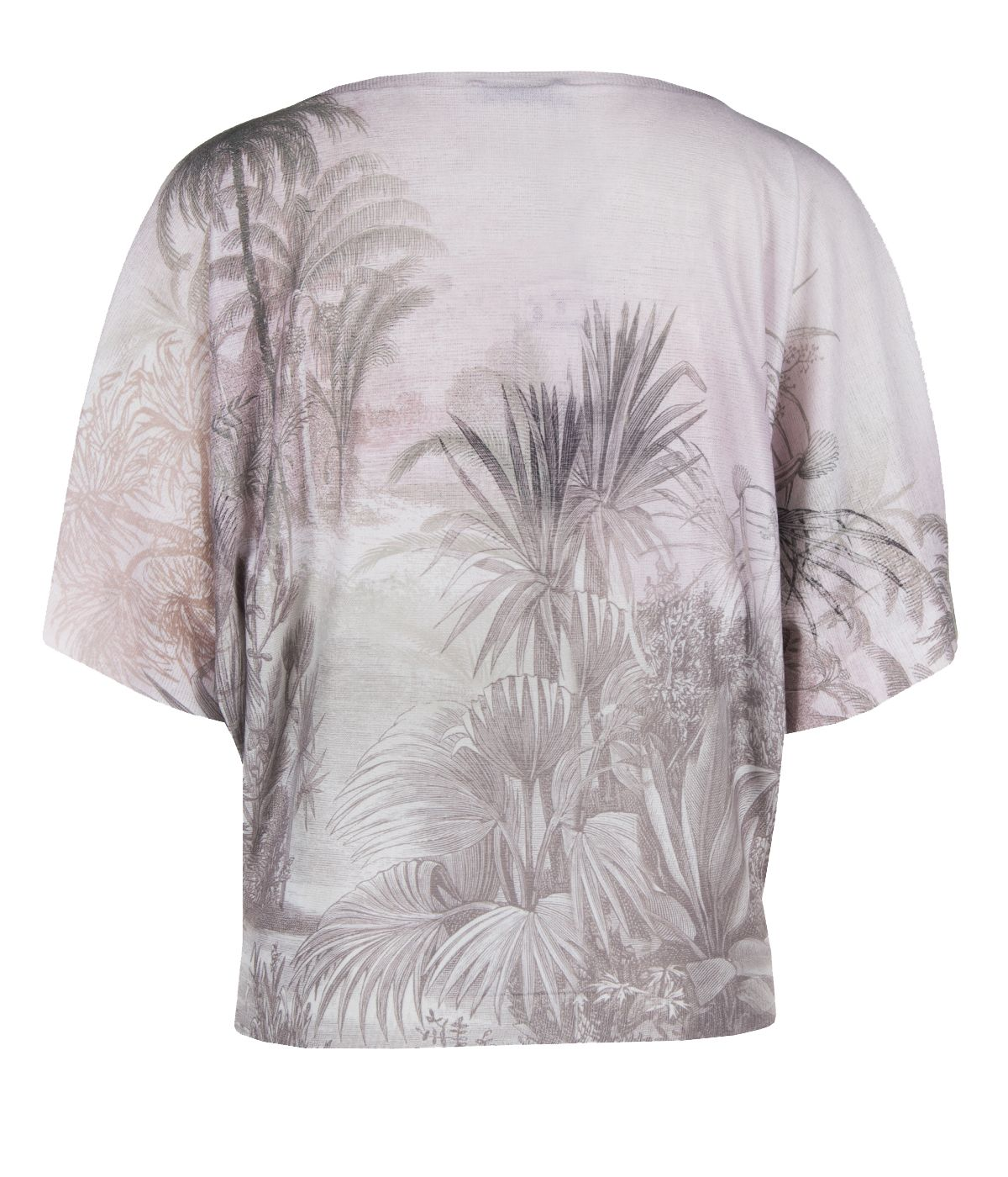 PRINTED BLOUSE WITH PALMS, FLOWERS AND ANIMALS 1