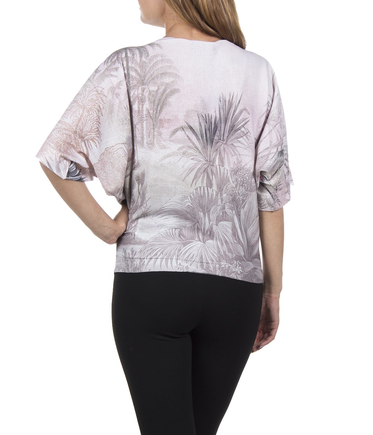 PRINTED BLOUSE WITH PALMS, FLOWERS AND ANIMALS 3