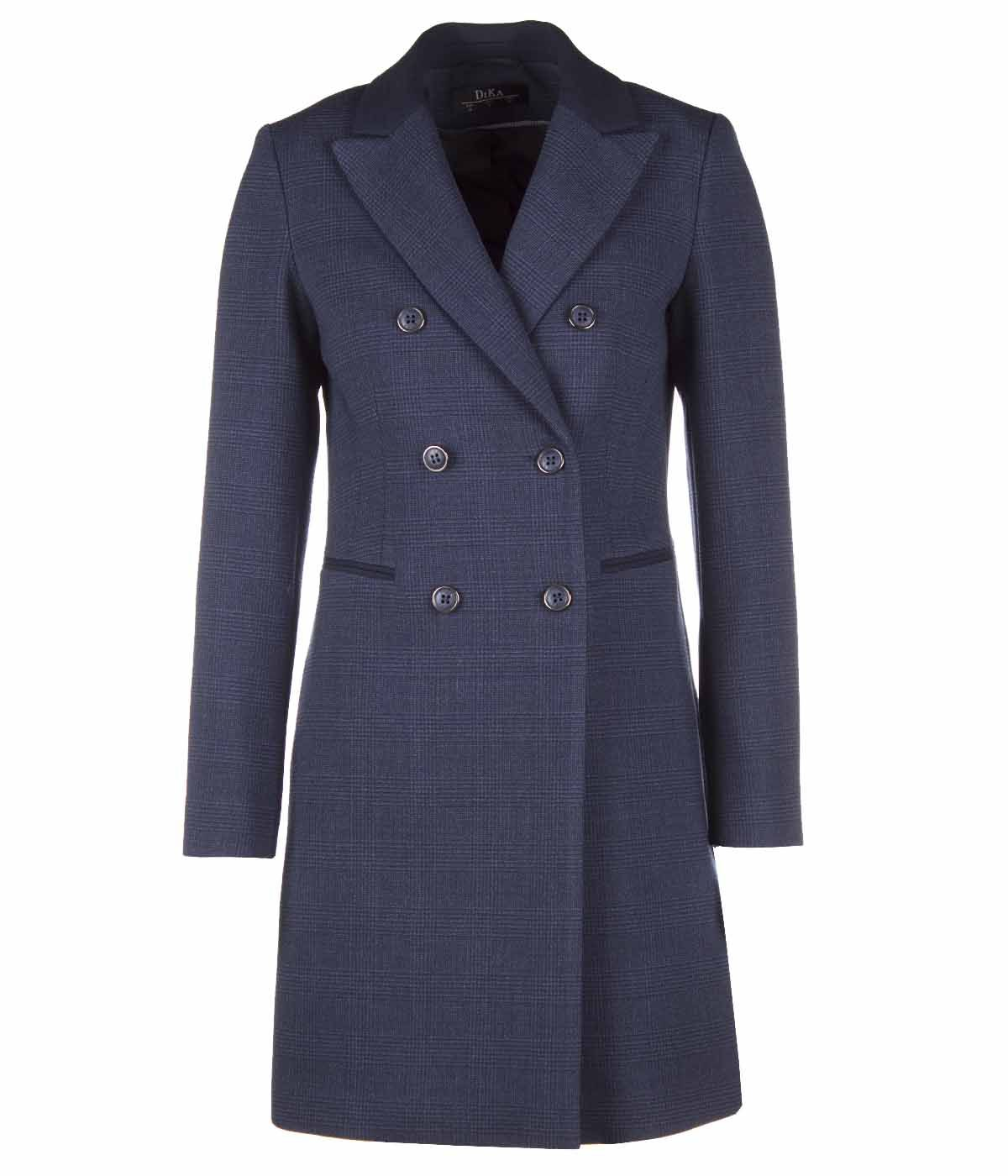DARK BLUE DOUBLE BREASTED COAT 0