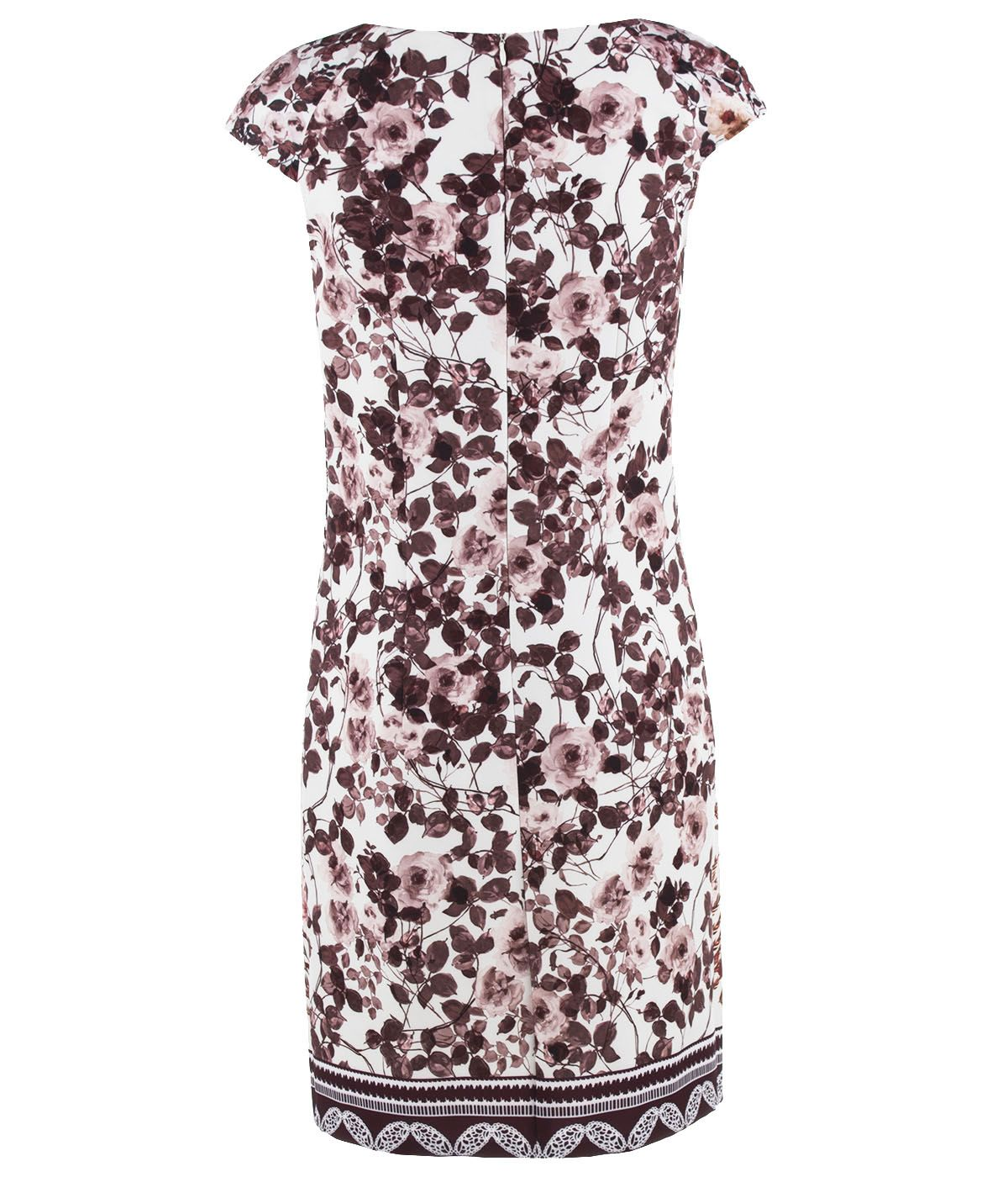 PLACED FLORAL PRINT DRESS 1