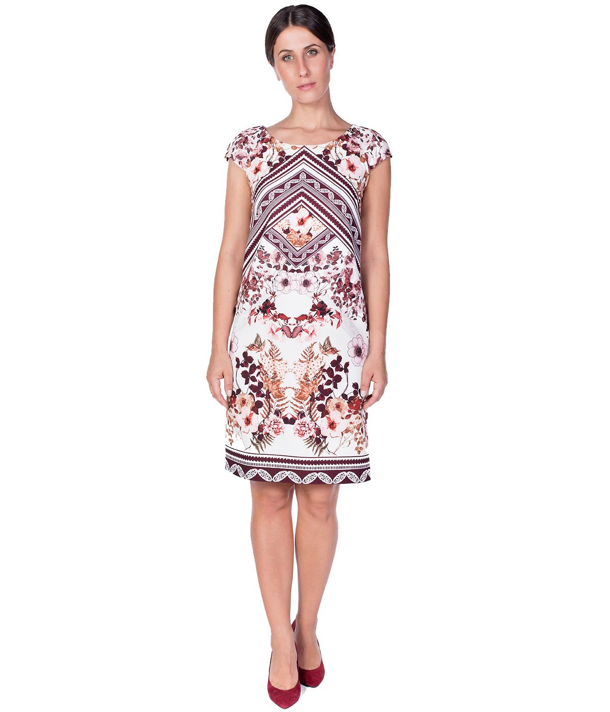 PLACED FLORAL PRINT DRESS 2
