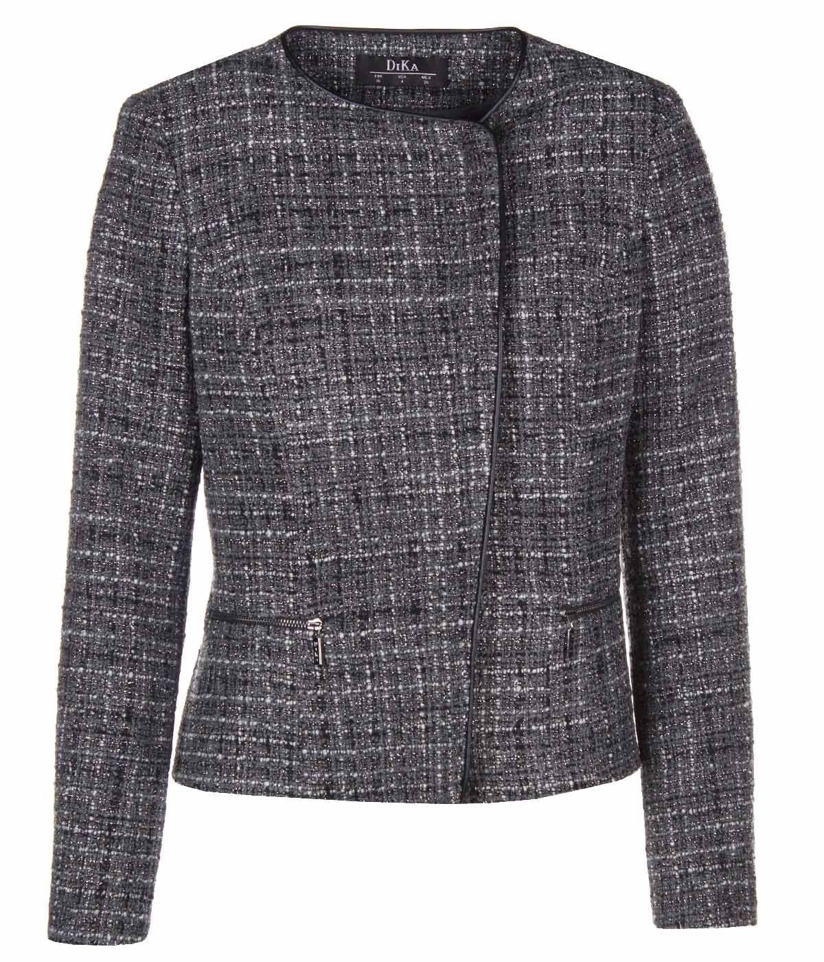 SHORT JACKET WITH ASYMMETRIC CONCEALED CLOSURE 0