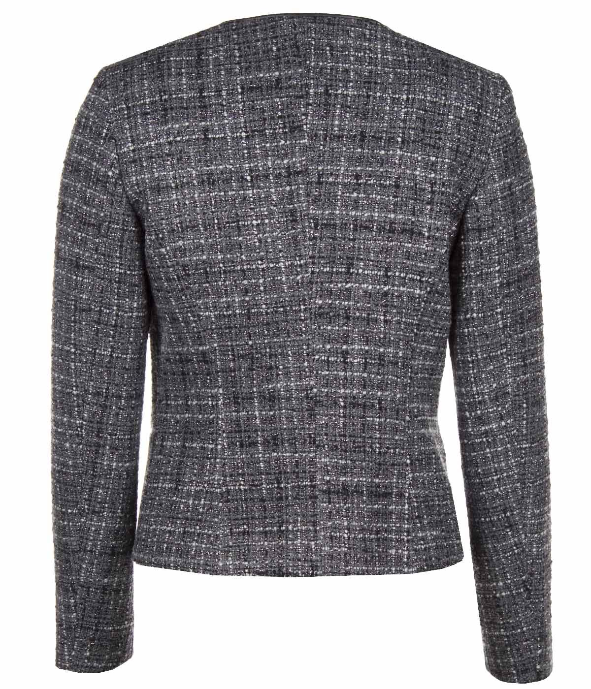 SHORT JACKET WITH ASYMMETRIC CONCEALED CLOSURE 1