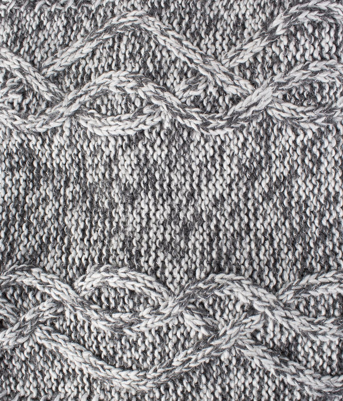 GREY KNITTED SCARF 0