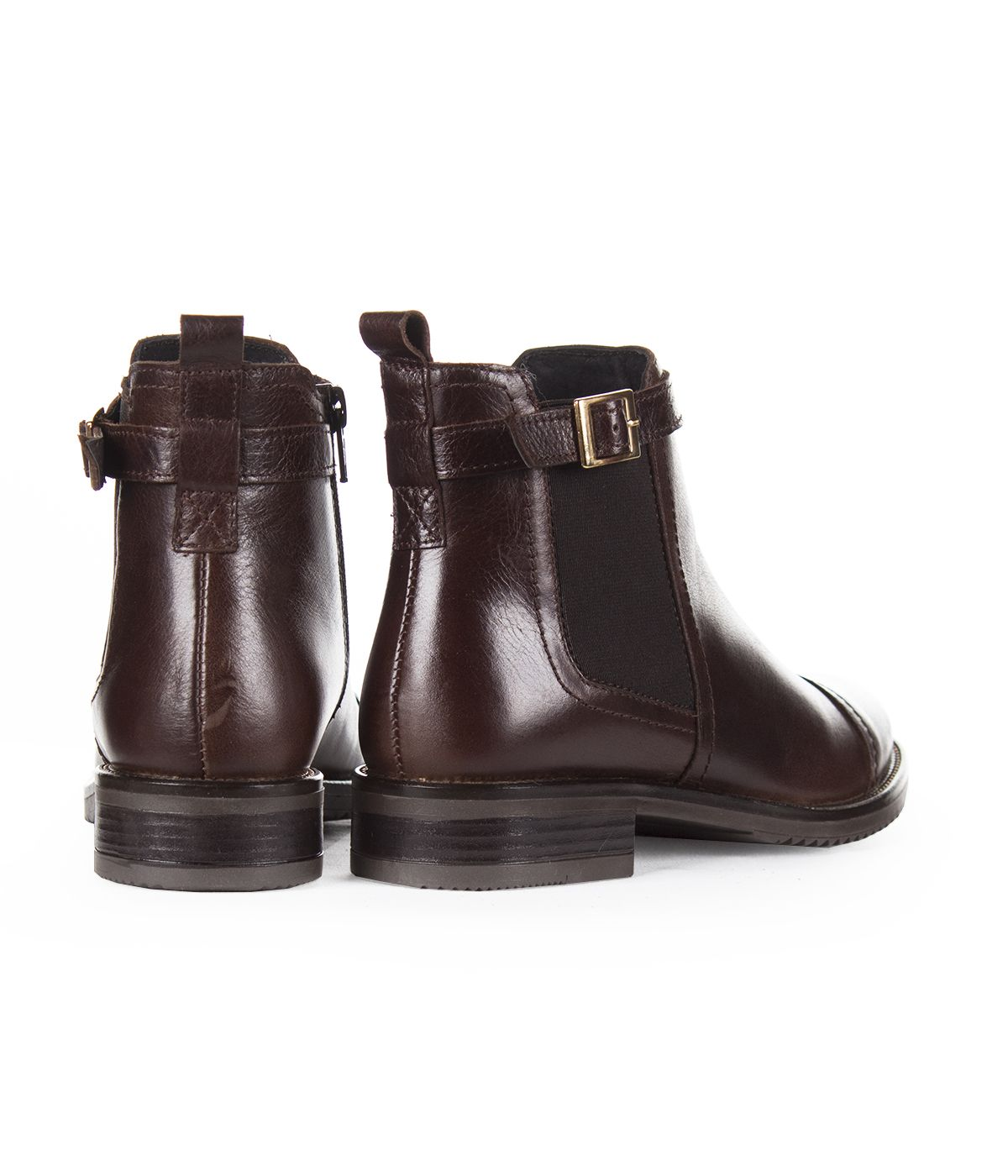 BROWN LEATHER ANKLE BOOTS 2