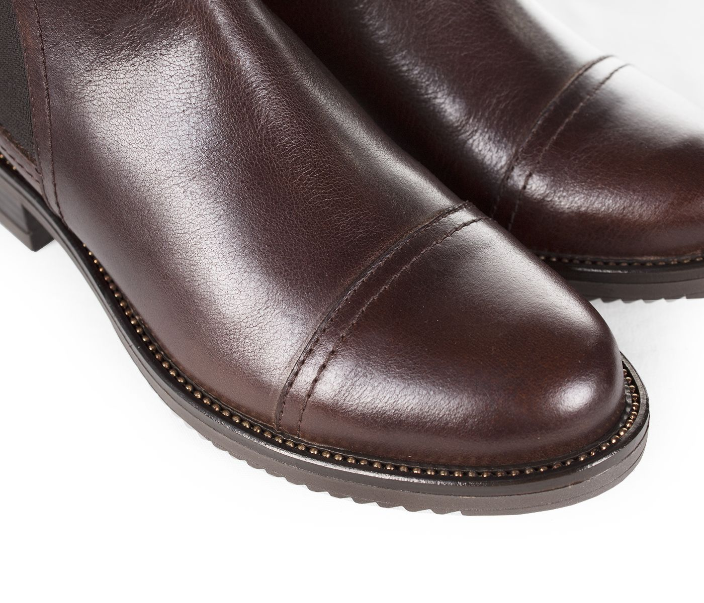BROWN LEATHER ANKLE BOOTS 3