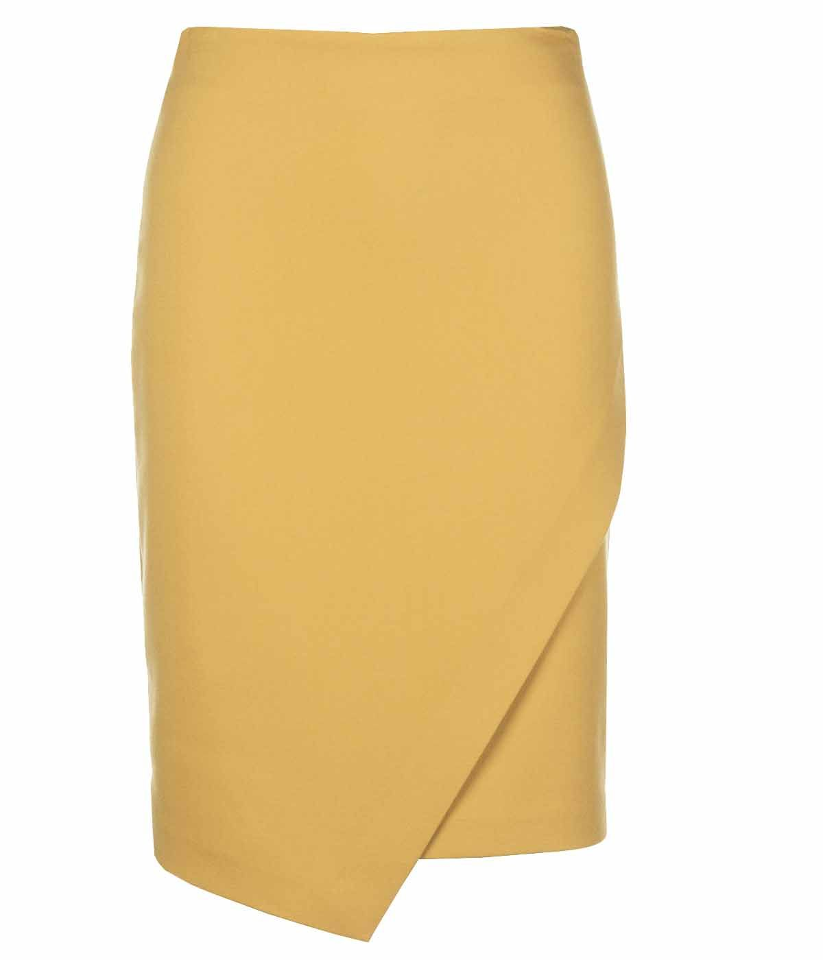 PENCIL SKIRT WITH IRREGULAR HEM 0