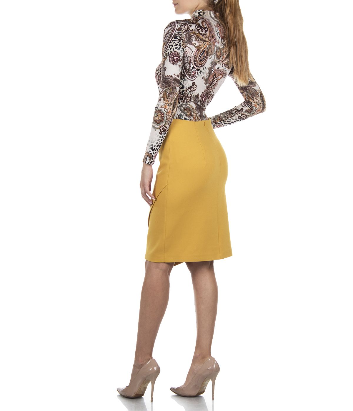 PENCIL SKIRT WITH IRREGULAR HEM