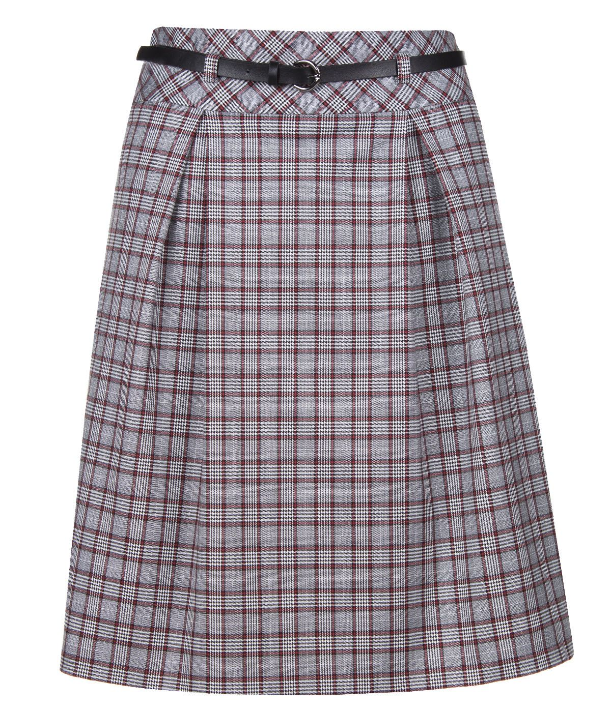 A LINE CHECKED SKIRT 0
