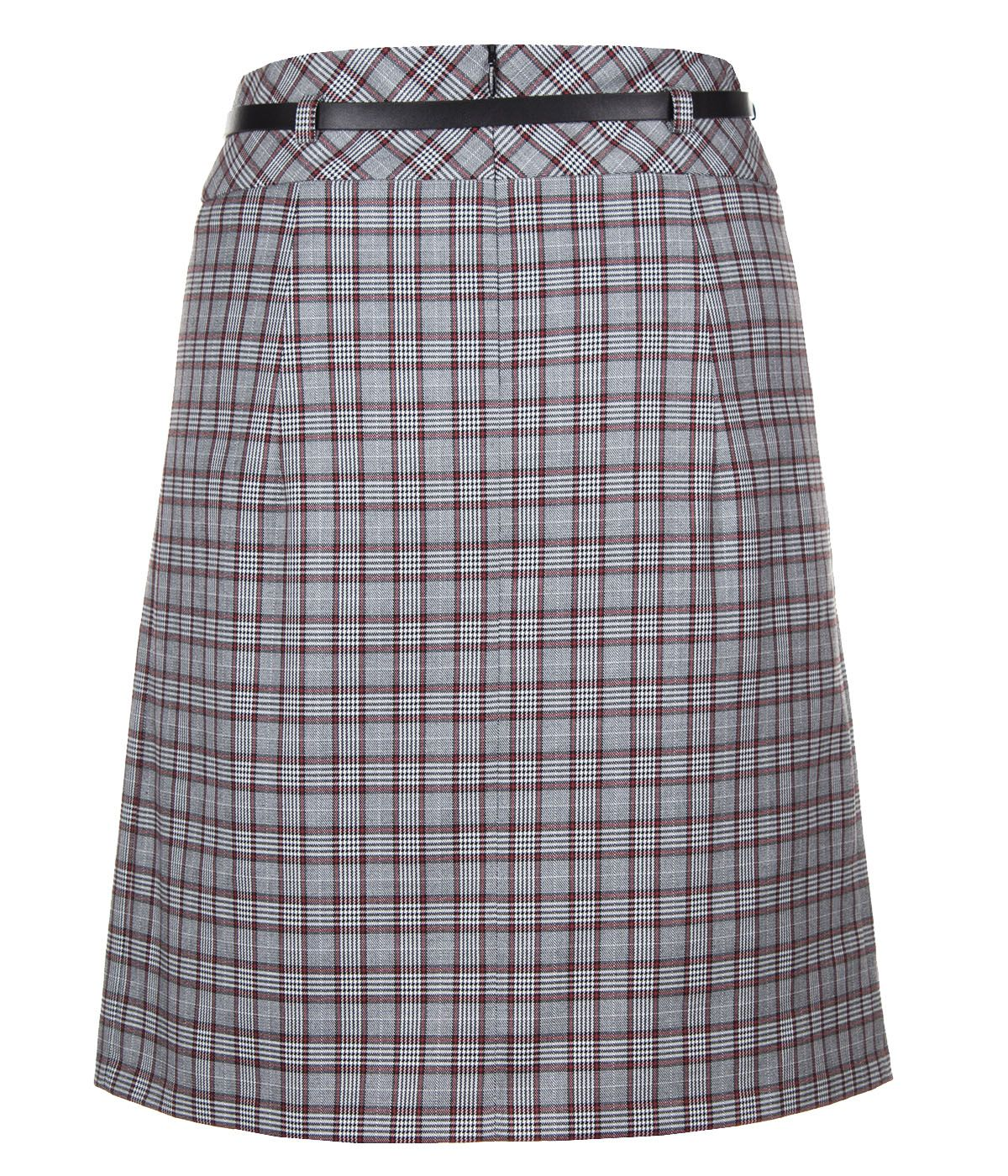 A LINE CHECKED SKIRT 1
