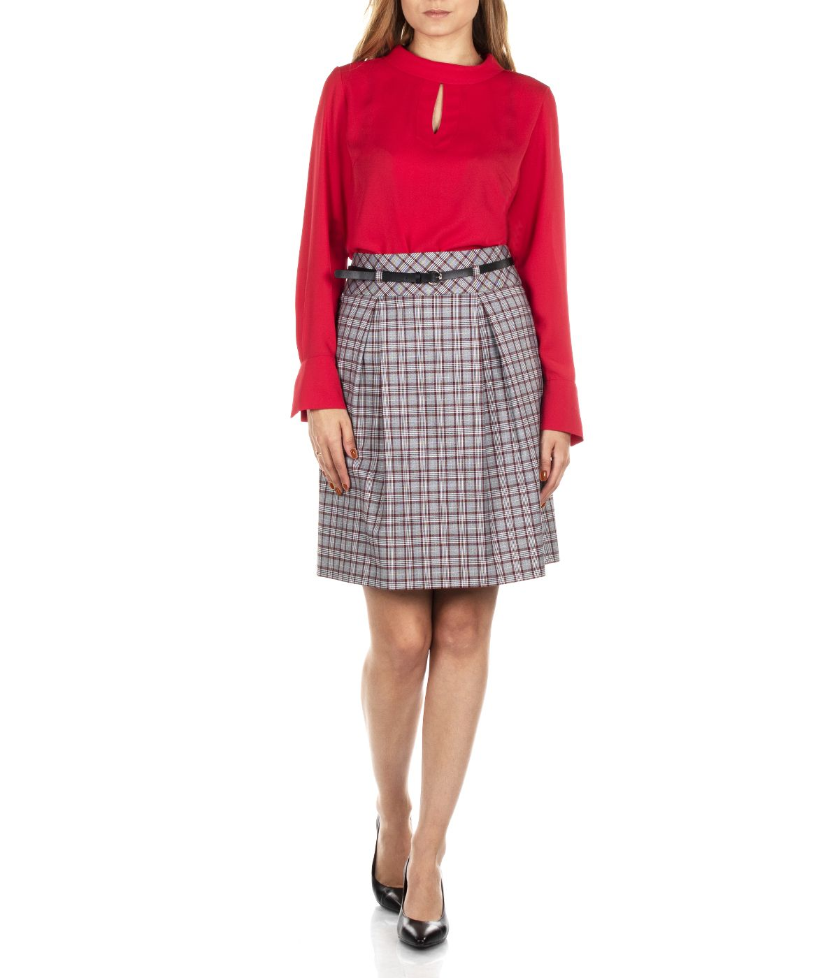 A LINE CHECKED SKIRT 2