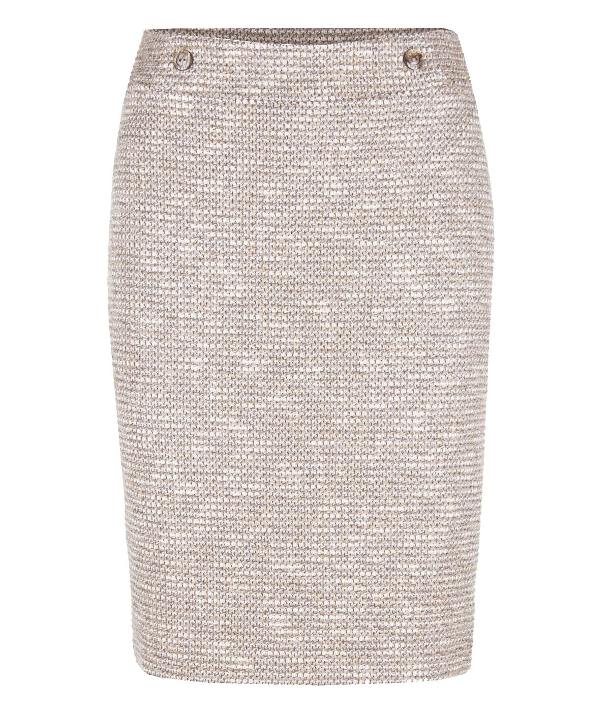 BEIGE PENCIL SKIRT WITH VISCOSE 0