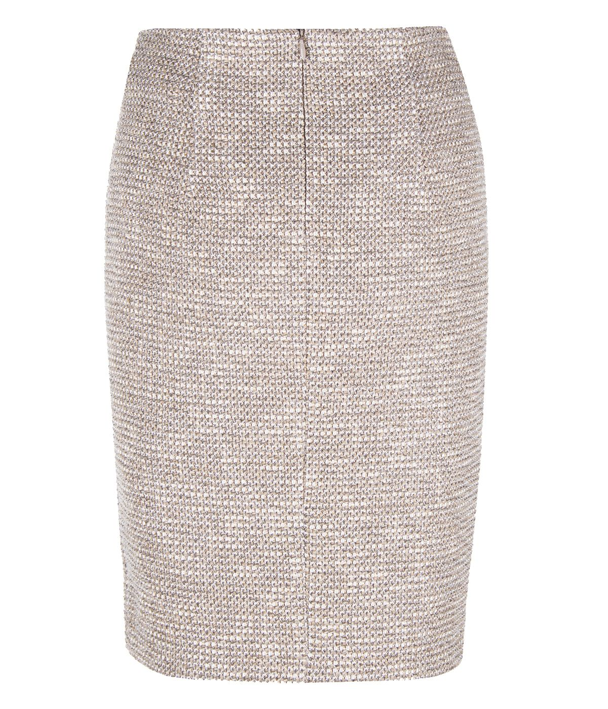BEIGE PENCIL SKIRT WITH VISCOSE 1
