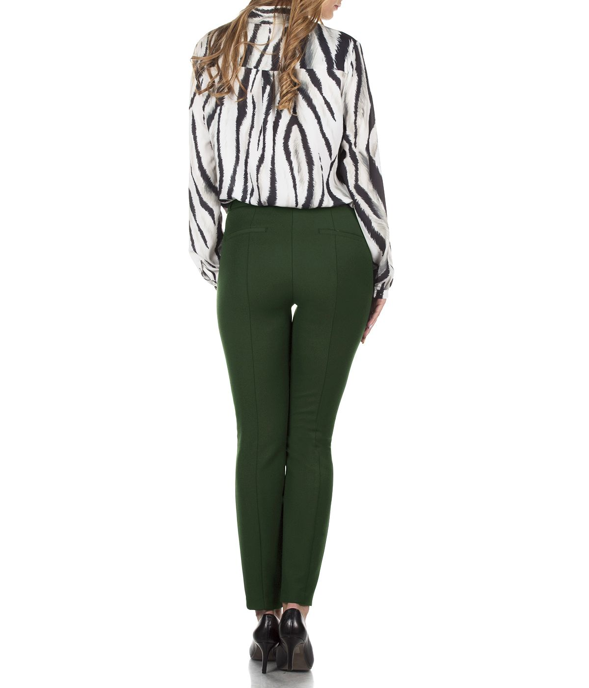 DARK GREEN SLIM FIT TROUSERS 3