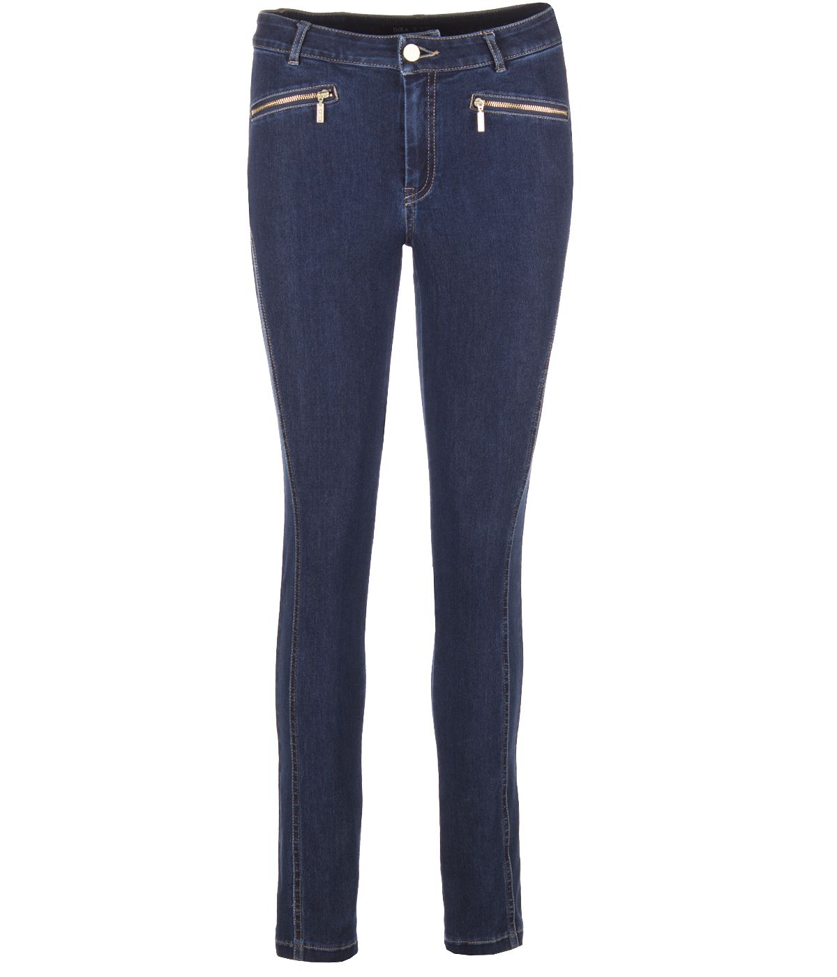 SLIM FIT JEANS WITH 2 ZIPPERS 0