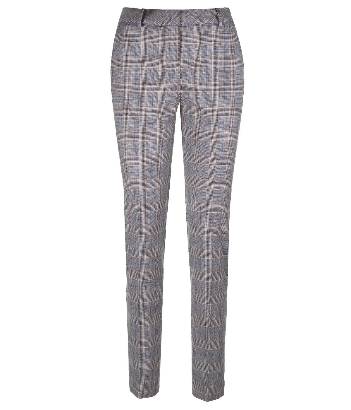 REGULAR FIT CHECKED TROUSERS