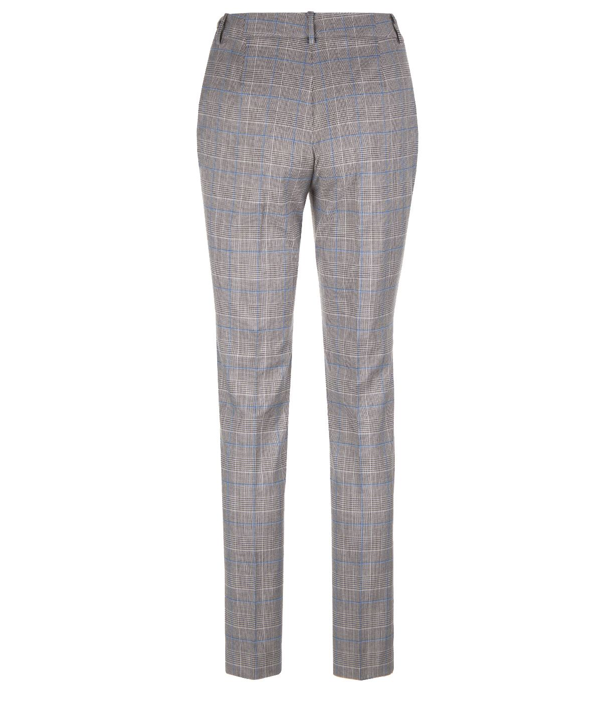 REGULAR FIT CHECKED TROUSERS 1