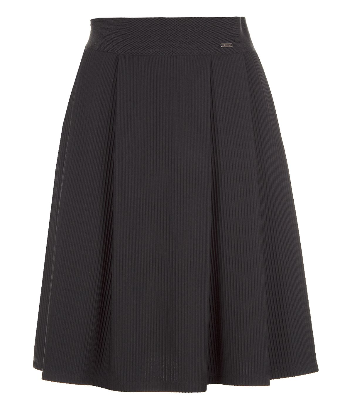 Emphasized wide-waistline skirt with rayon 0