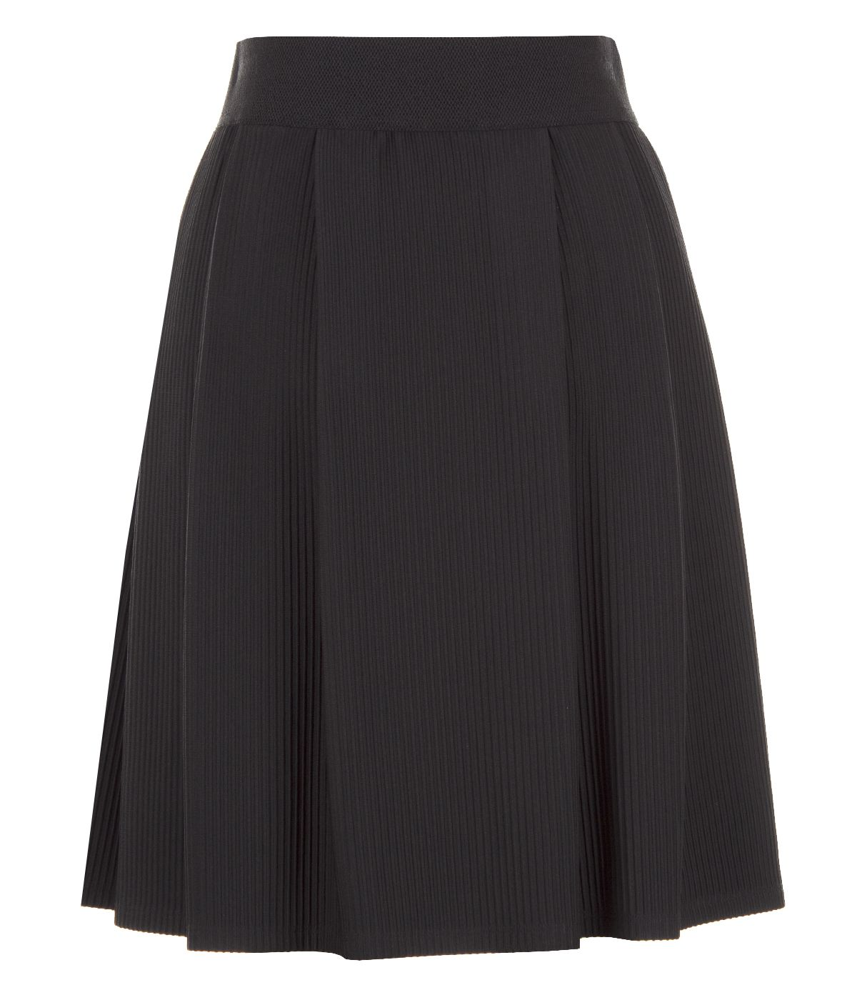 Emphasized wide-waistline skirt with rayon 1