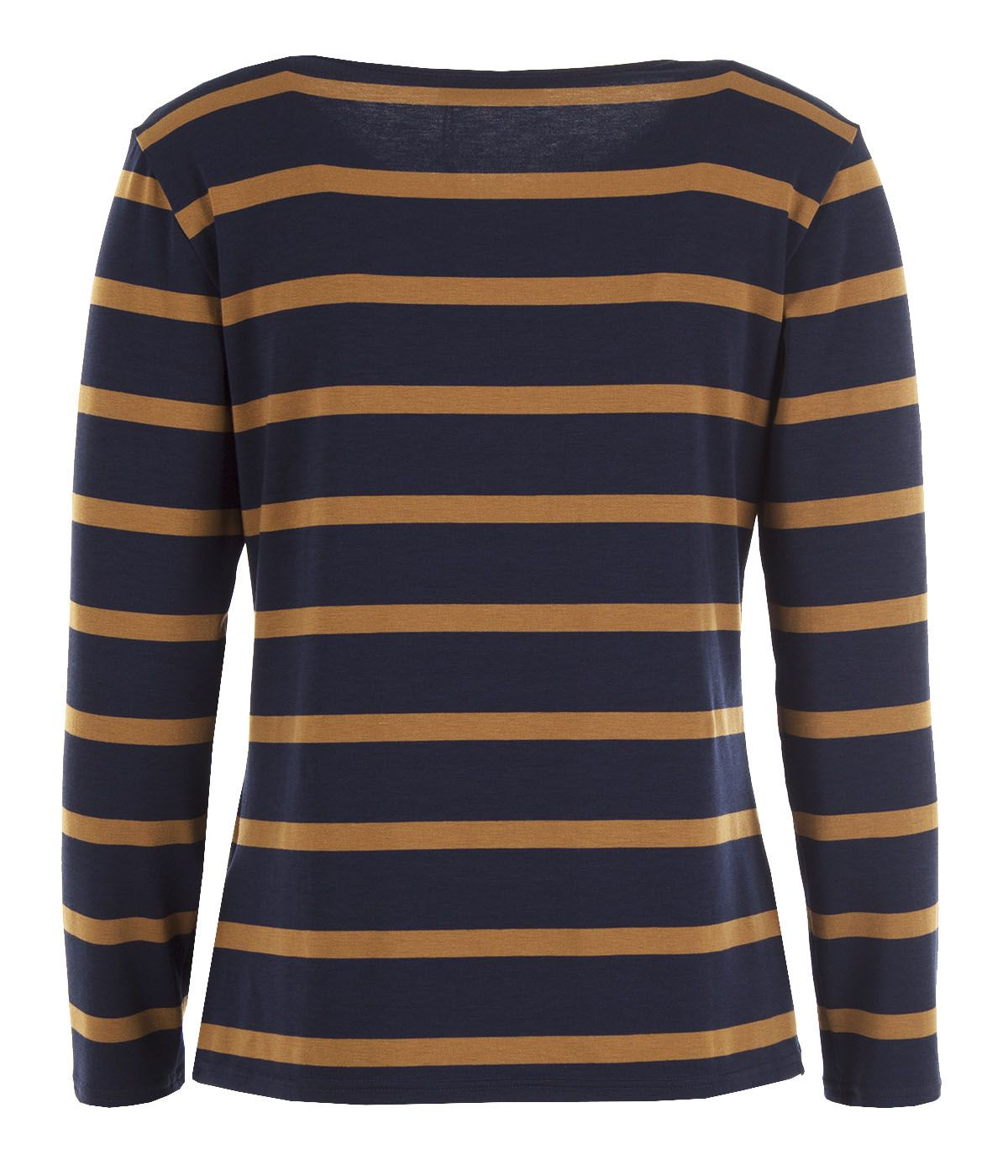 Striped long-sleeved blouse with viscose 1