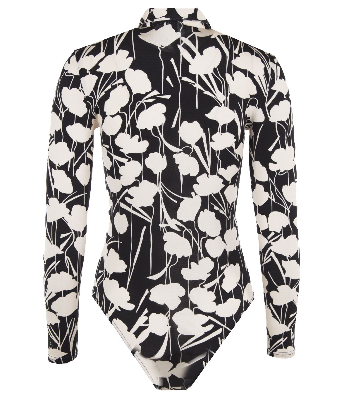 Rayon shirt-bodysuit with floral print 0