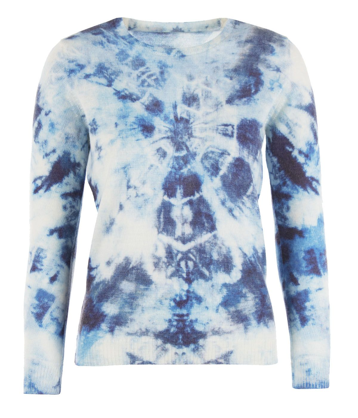 Blue sky - sweater with care for the environment, with recycled polyester and wool 0