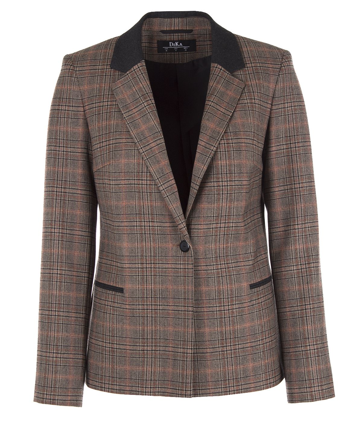 Fitted wool jacket with lapels 0
