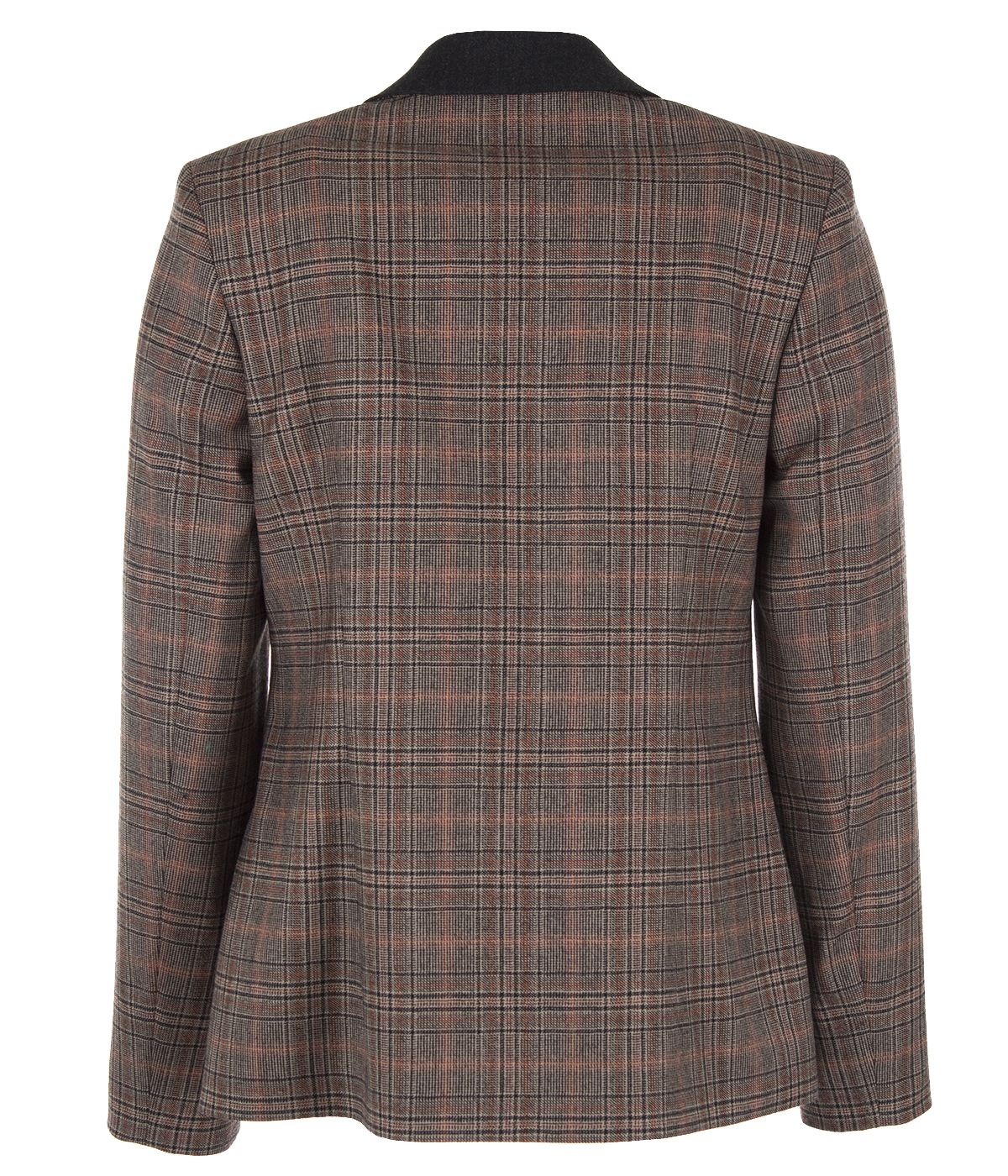 Fitted wool jacket with lapels 1
