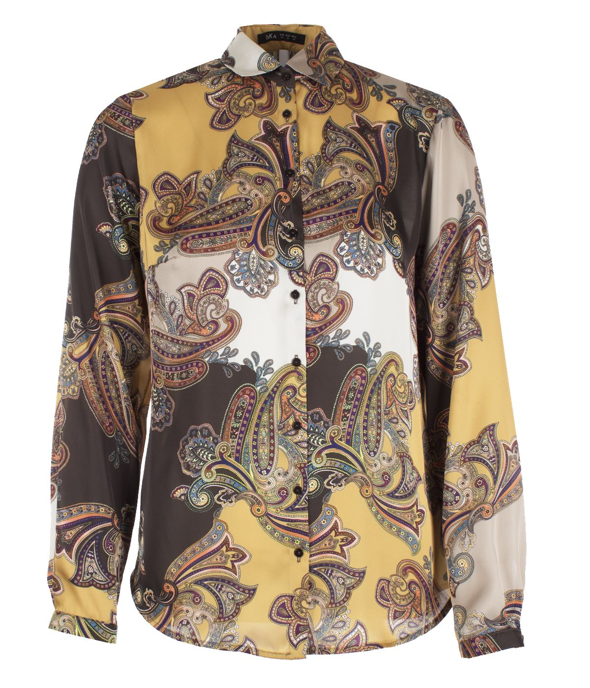 Long-sleeved shirt, paisley print  0