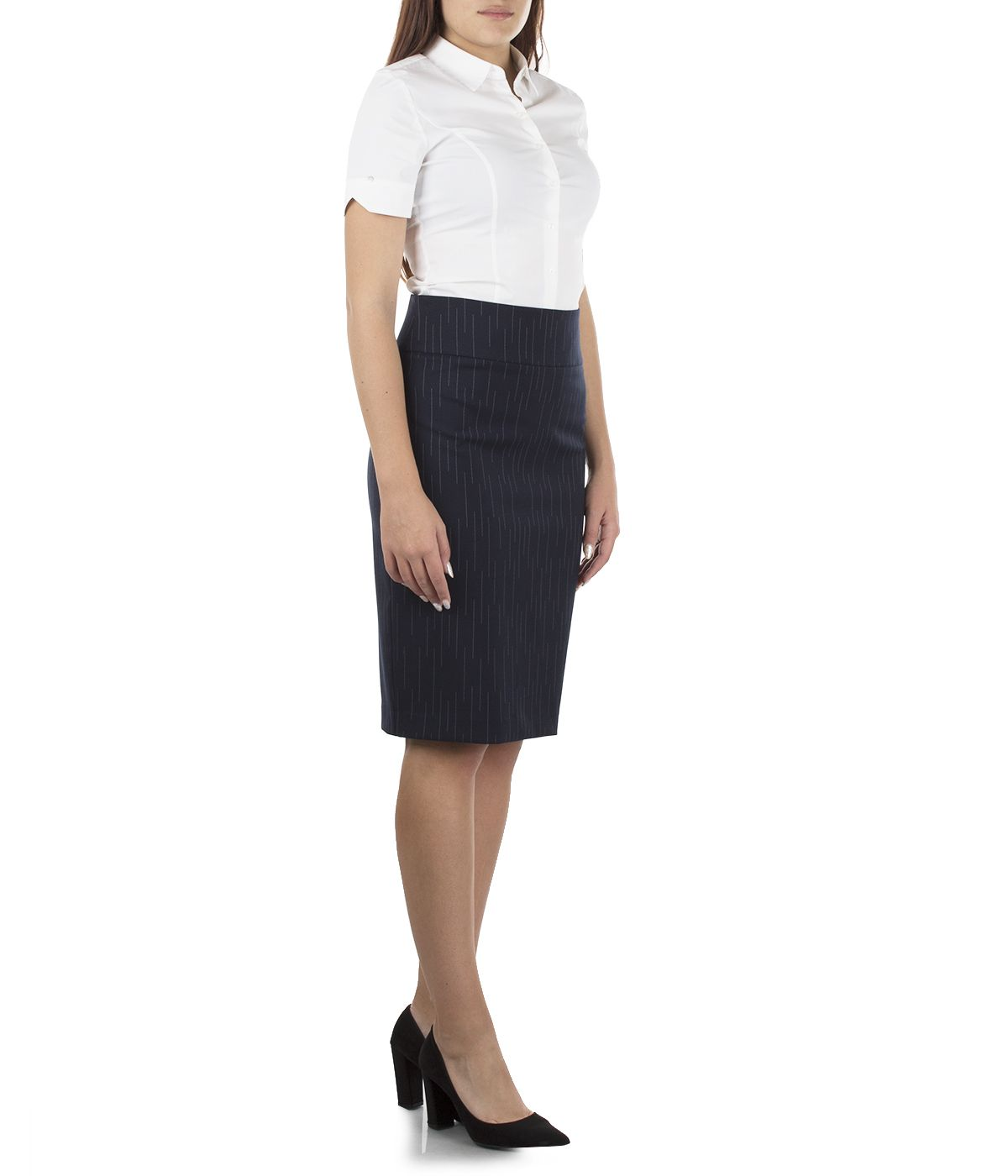 Pencil skirt with wool  2