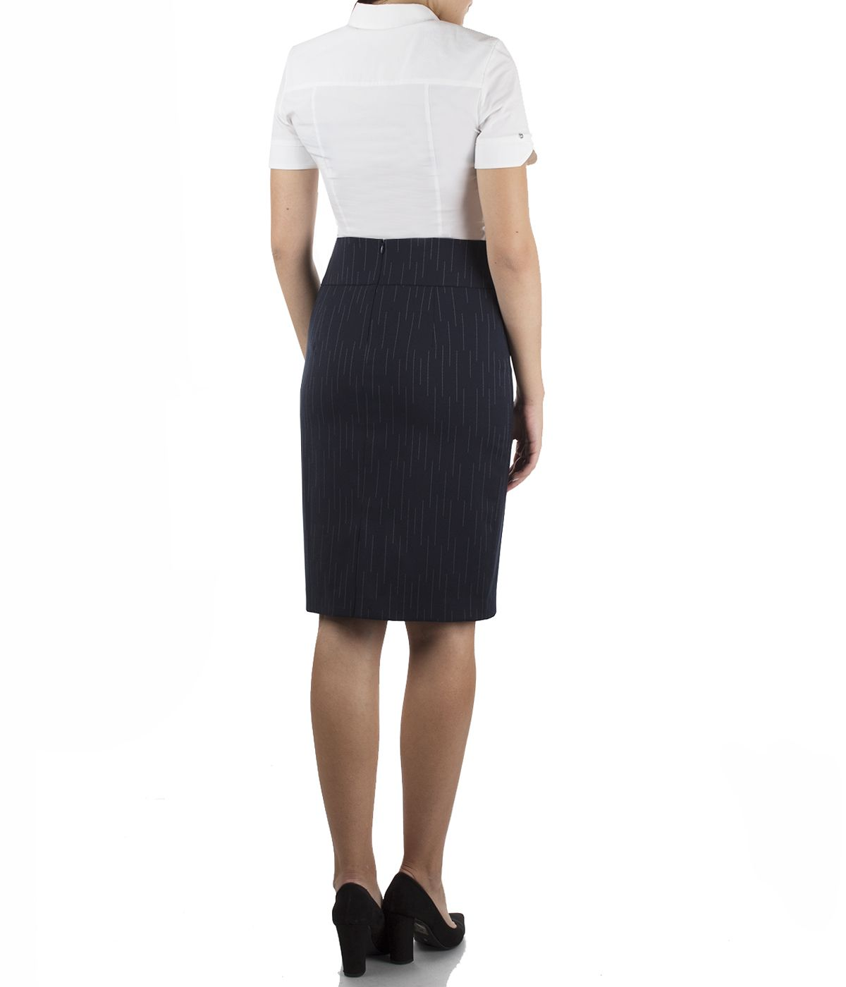 Pencil skirt with wool  3