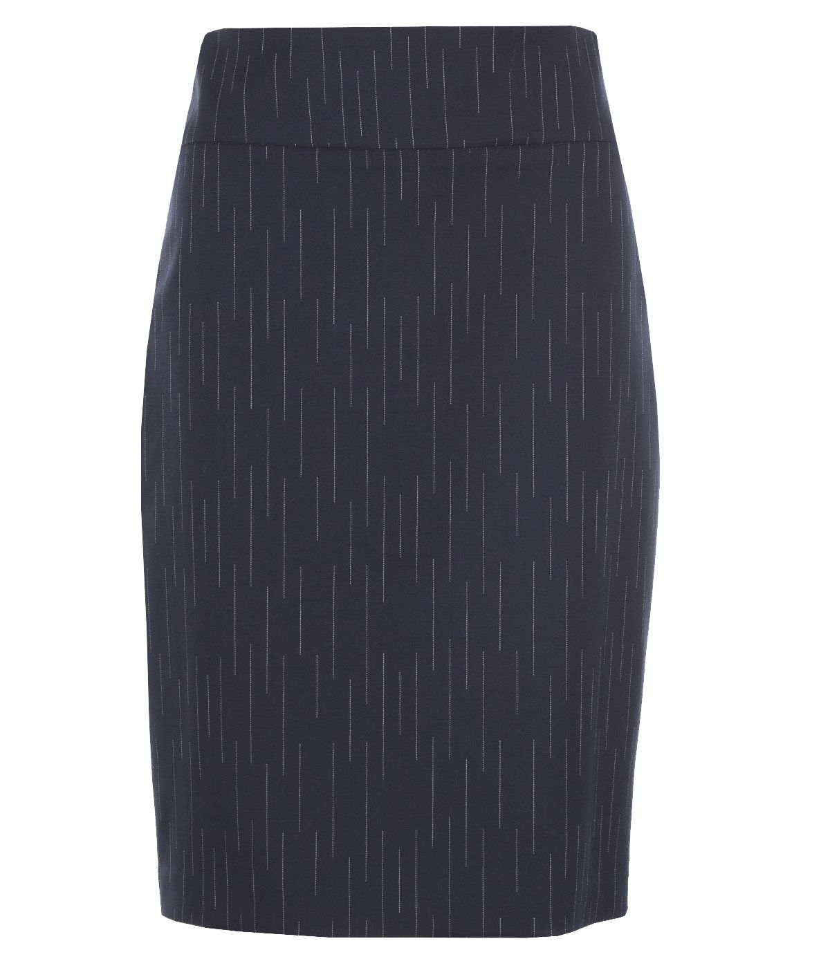Pencil skirt with wool  0