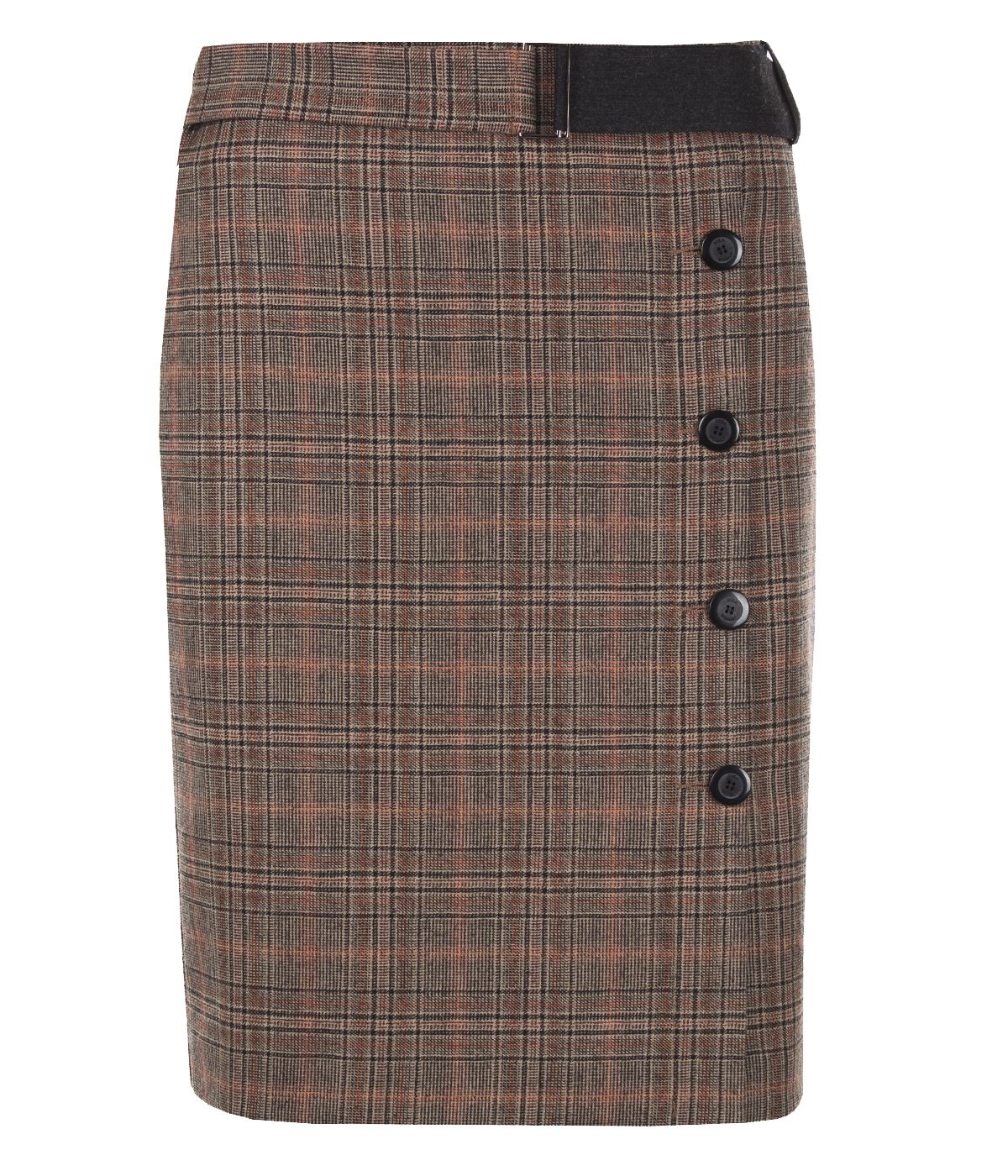 Wool fitted skirt with belt 0