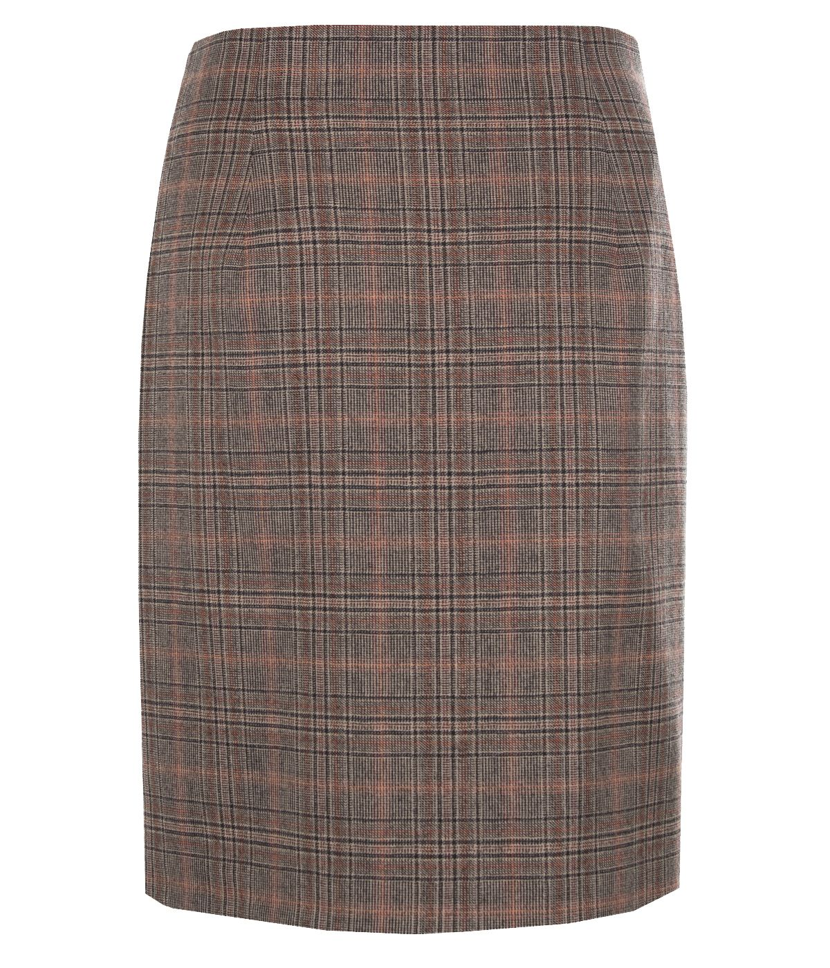 Wool fitted skirt with belt 1