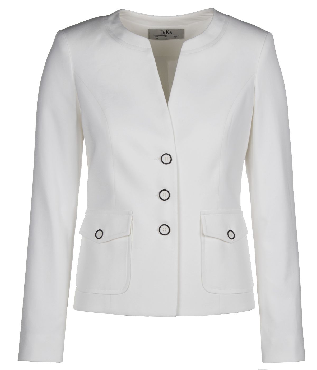 Single-breasted jacket external pockets with flaps, with viscose and cotton 0