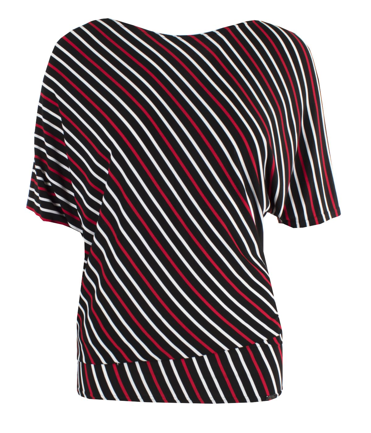 Tunic with  rayon with striped print 0