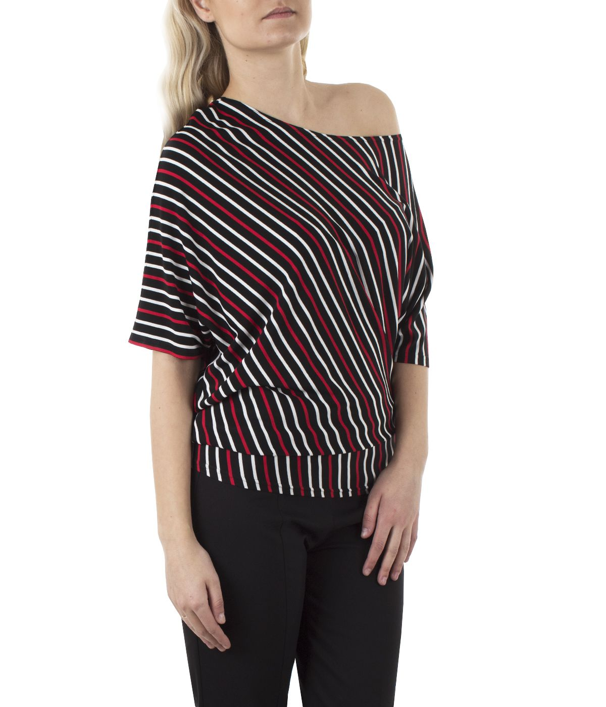 Tunic with  rayon with striped print 2