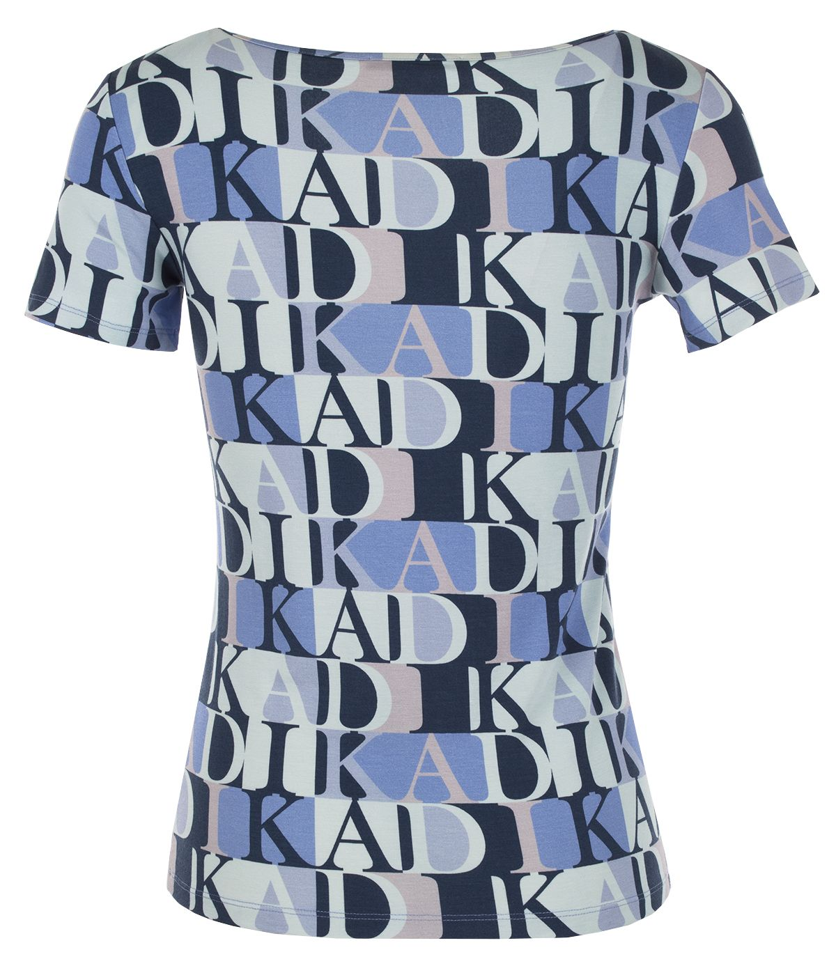 Short-sleeved viscose blouse with stylized logo print 1