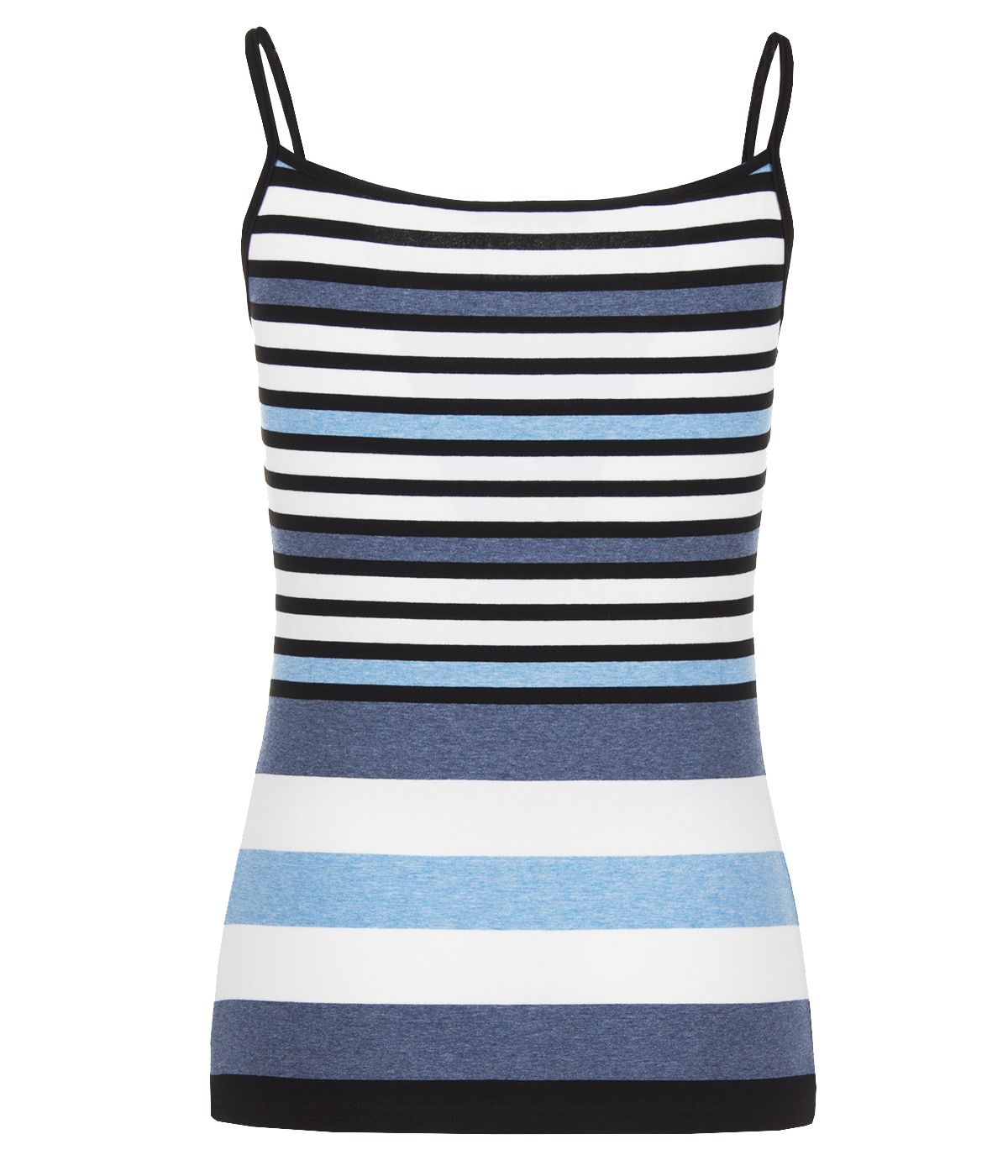 Viscose straps top with stripes print 1