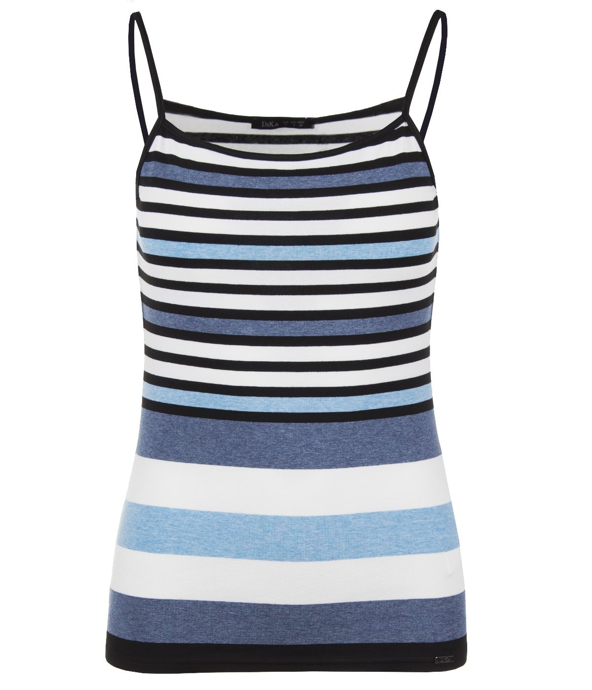 Viscose straps top with stripes print 0