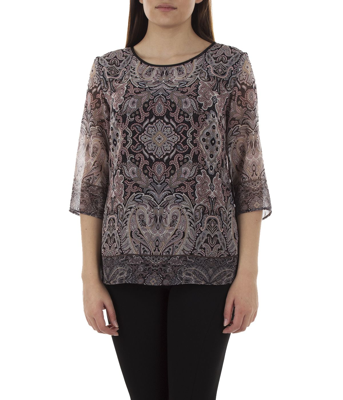 Blouse with 3/4 sleeves and paisley print 2
