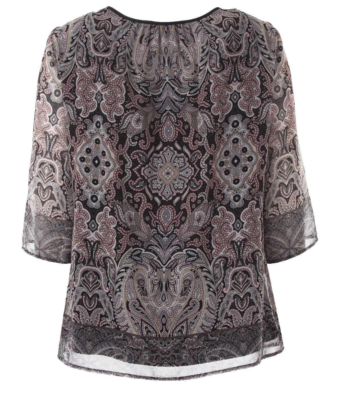 Blouse with 3/4 sleeves and paisley print 1